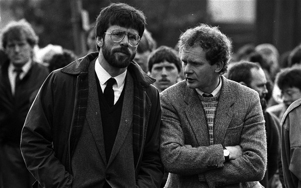 Gerry Adams and Martin McGuinness - copyright © 1987 Press Association