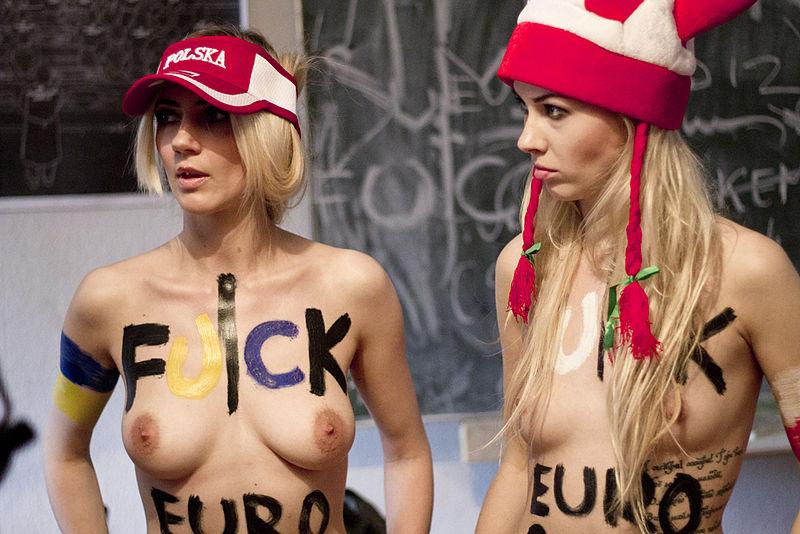 FEMEN demonstrators at Euro 2012 - copyright © Joseph Paris