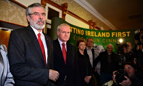 Gerry Adams and Martin McGuinness at Adams' release press conference - copyright © 2014 Jeff J Mitchell/Getty Images