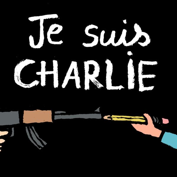 #JeSuisCharlie Copyright © 2015 Jean Jullien