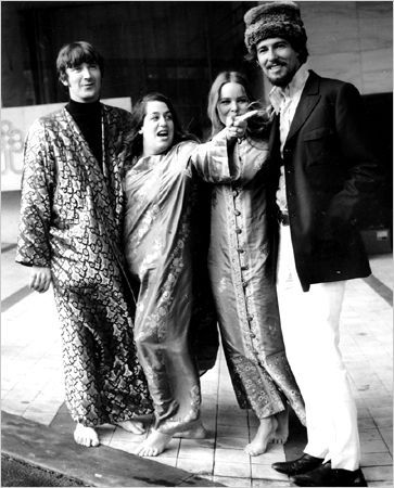 As hippie royalty in London, 1967