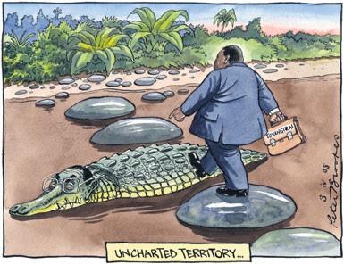 Mugabe croc cartoon