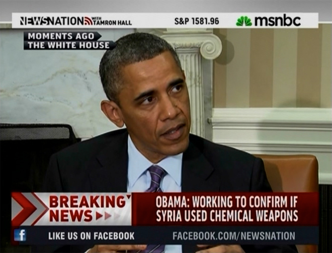Barack Obama under pressure over Syria. Copyright © 2013 MSNBC