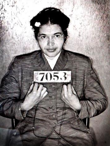 Rosa Parks' police 'mugshot', 1 December 1955