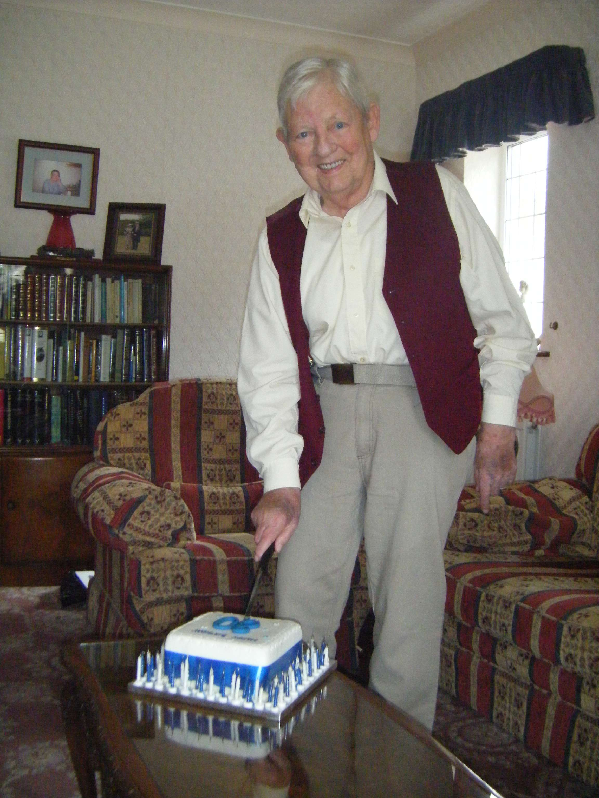 Ted, celebrating his 80th birthday