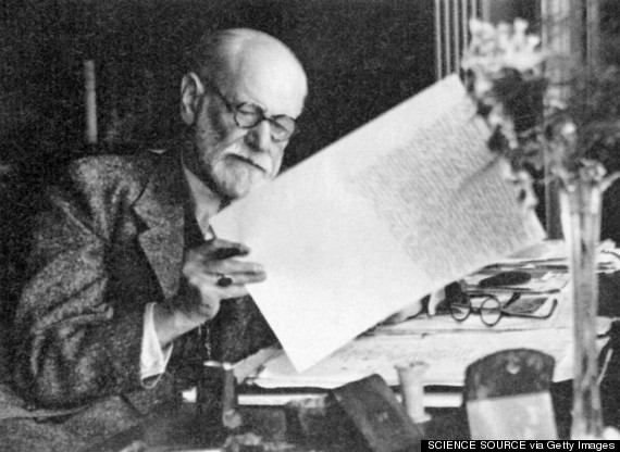 Sigmund Freud at work