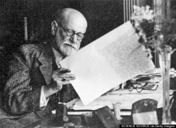 Sigmund Freud at work