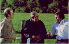 Cowan, Graves and Beck at Graves' farm (Copyright © NVC Inc)