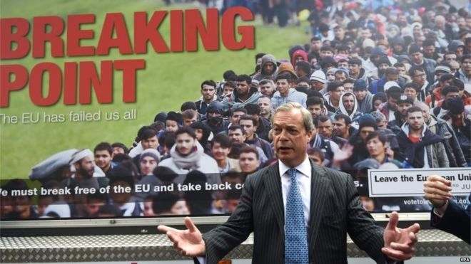Nigel Farage launches the 'Breaking Point' poster