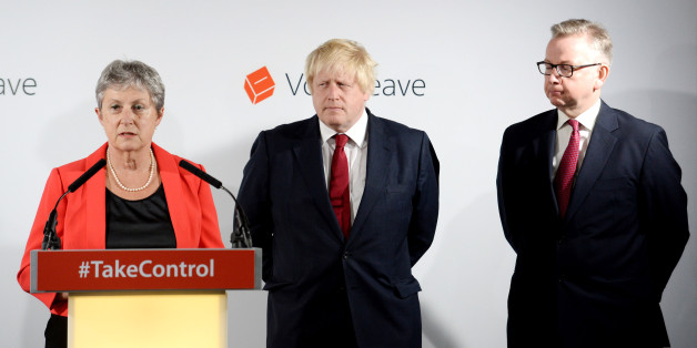 Gisela Stuart, Boris Johnson and Michael Gove at 'victory' press conference. (Photo copyright © 2016 Stefan Rousseau - WPA Pool/Getty Images)