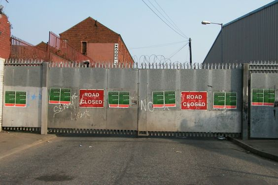 One of 90+ 'peace walls' still separating Republicans and Unionists in Belfast