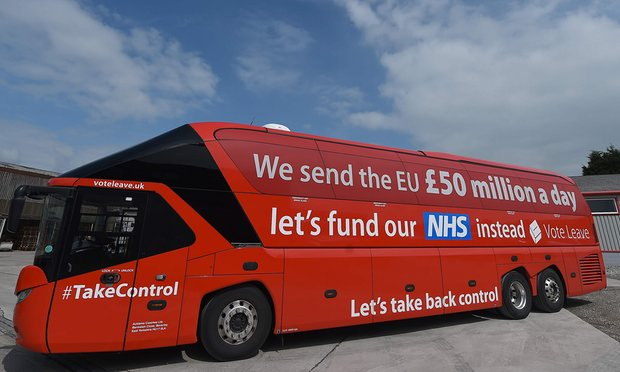 The Brexit bus during the referendum campaign - copyright © Paul Ellis/AFP/Getty Images