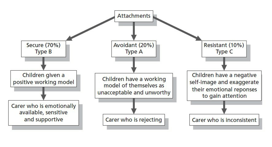 the different types of attachment between a mother and child Children with a secure attachment see their parent as a secure base from which they and that of your dates so that you don't try to make a relationship work with someone very different from don't you think there should be something done were people will know what attachment styles there.